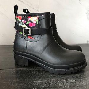 Original Muck Boot Liberty Black Floral Rain Boots